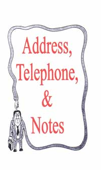 telephone and address book